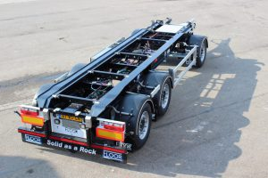 Pacton trailer voor containers