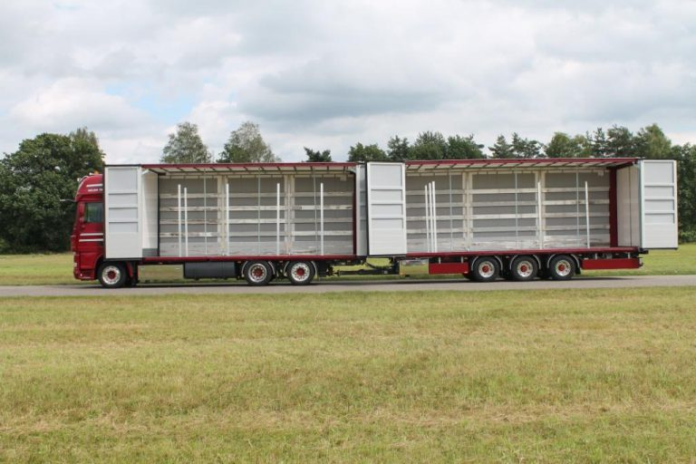 Special truck body  and drawbar trailer for Meijer Transport BV, Nieuw Buinen