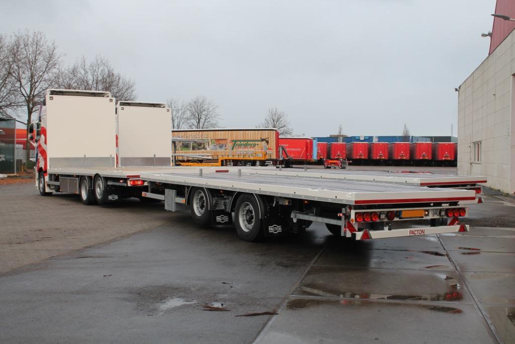 2 x Pacton LKW Aufbauten mit Anhängern für Jan Snel Transport